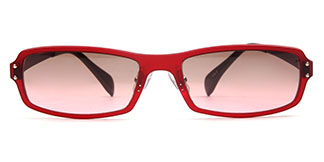 22005 carlo Rectangle red glasses