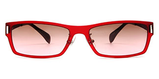 22007 Cole Rectangle red glasses