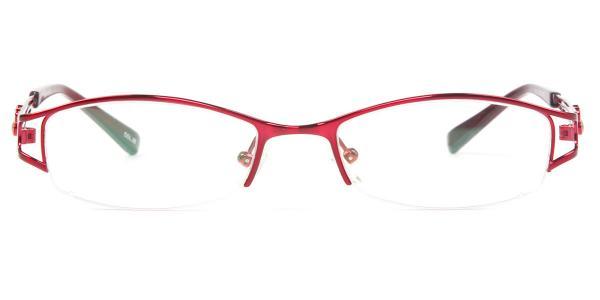 221 Ramla Rectangle red glasses