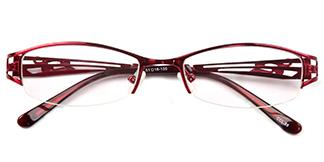 221 Ramla Oval red glasses