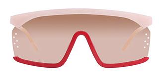 22246 Tshima Aviator red glasses