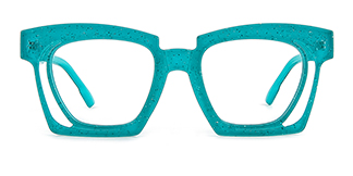 2237 Dalia Rectangle green glasses
