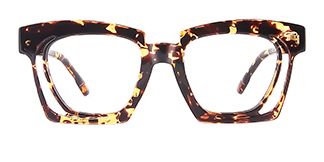 2237 Dalia Rectangle tortoiseshell glasses