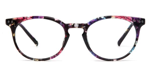 2283-1 Lorraine Oval floral glasses