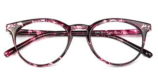 2283-1 Lorraine Oval purple glasses