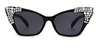 244 Charla Cateye red glasses