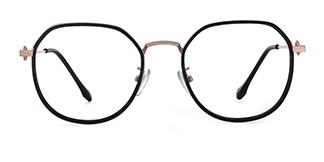 2478 Angelita Geometric black glasses