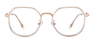 2478 Angelita Geometric clear glasses