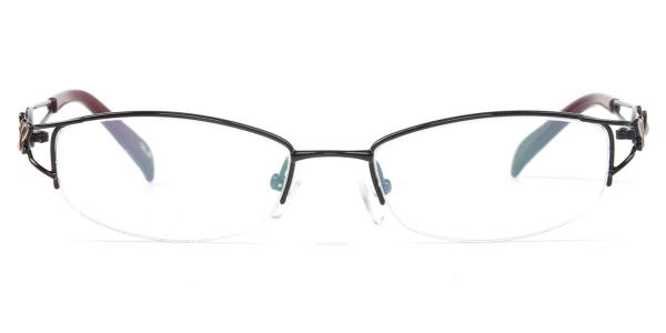 253 Horatia Oval black glasses