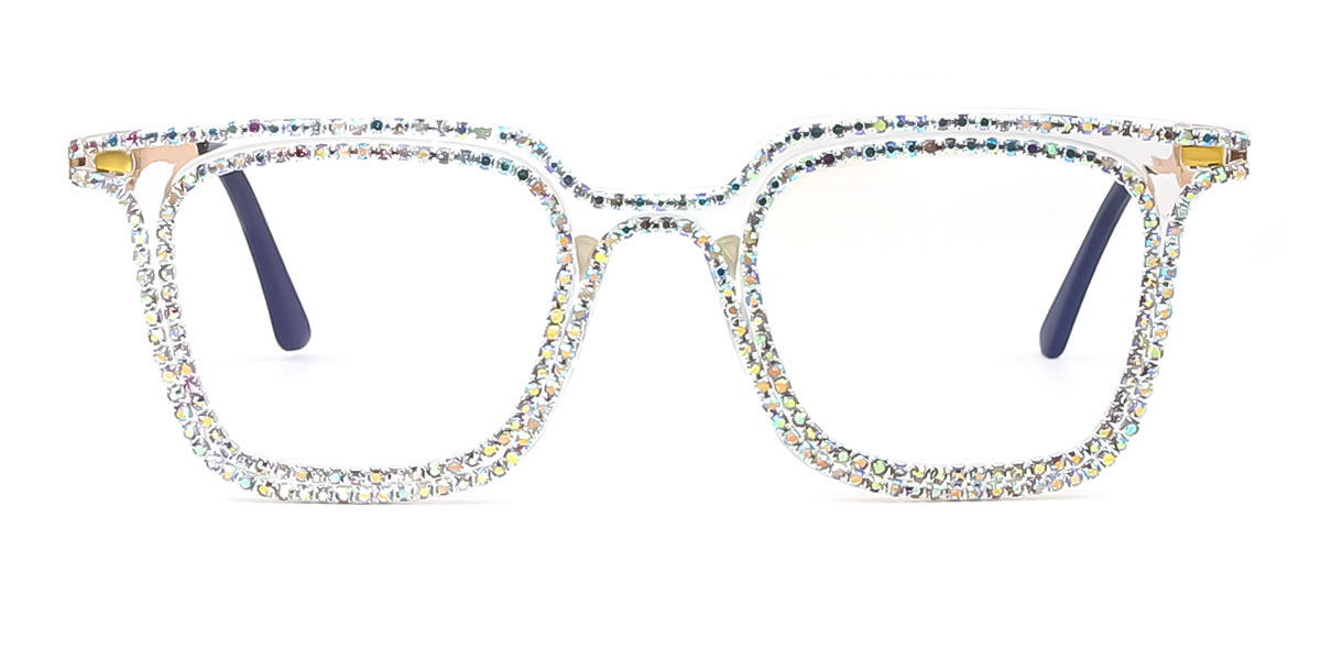 255 Delila Rectangle clear glasses