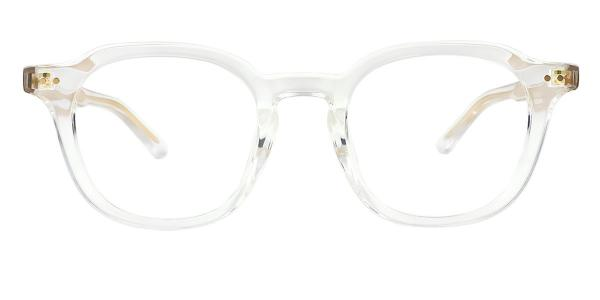 2557 Abrahams Geometric clear glasses