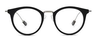 2648 Ibbie Oval black glasses