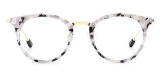 2648 Ibbie Oval white glasses