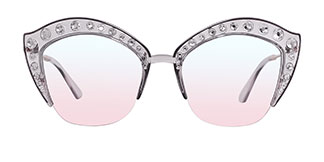 2764 Vijaya Cateye grey glasses
