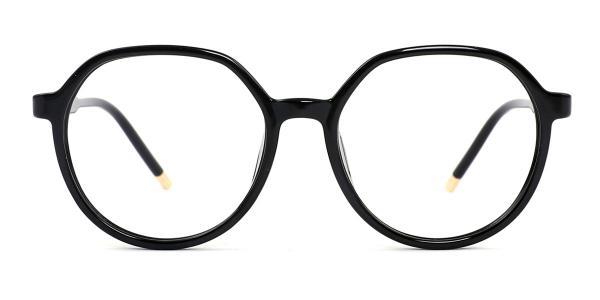 2803 Lee Geometric black glasses