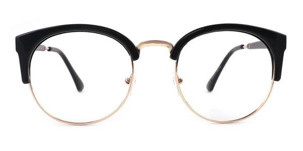 2925 Ingrid Oval black glasses
