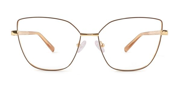 3002 Gwendolyn Cateye brown glasses