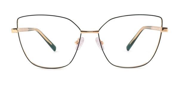 3002 Gwendolyn Cateye green glasses