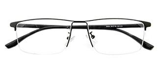 30081 Carl Rectangle black glasses
