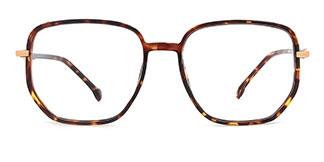 30102 Maya Geometric tortoiseshell glasses