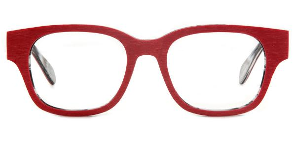 3018 Nunn Rectangle red glasses