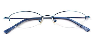 3070 Zenobia Oval blue glasses