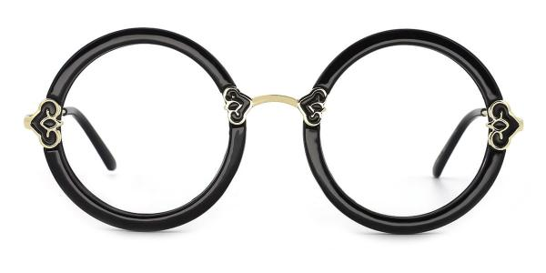 3080-1 care Round tortoiseshell glasses