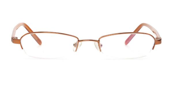 3104 Bensen Rectangle brown glasses