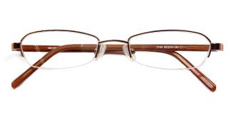 3104 Bensen Rectangle brown glasses