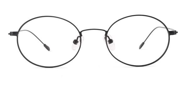 31363 Queeny Oval black glasses