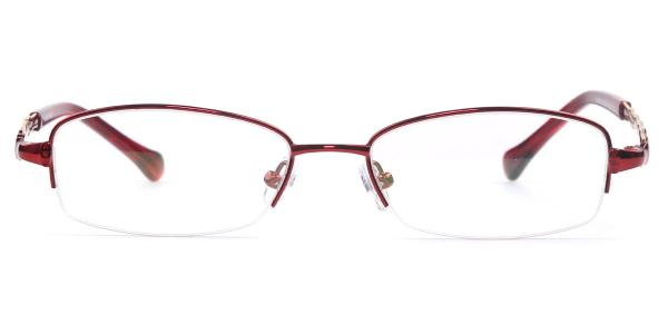 31433 Inez Round red glasses
