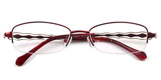 31433 Inez Rectangle,Oval gold glasses