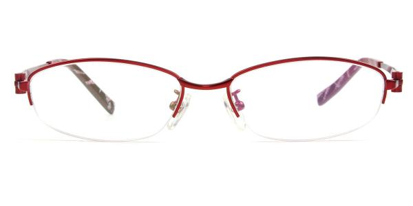 3246 Adrienne Oval red glasses