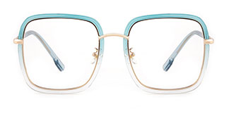 328 shelly Rectangle blue glasses