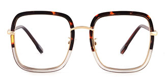 328 shelly Rectangle tortoiseshell glasses
