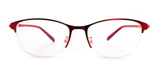 3303-2 Jennica Oval red glasses