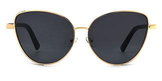 3445 Nacia Cateye gold glasses