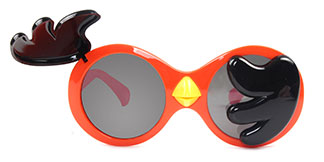 3467-1 Crane Round orange glasses