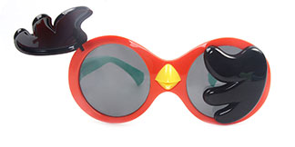 3467 Voica Round orange glasses
