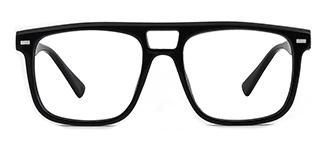 3510 Antoinette Aviator black glasses