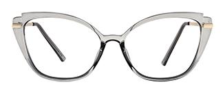 3547 Billi Cateye grey glasses