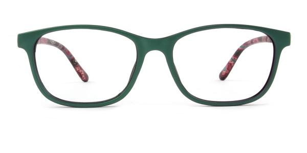 3639 Patience Rectangle green glasses