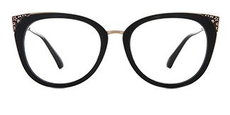 377 Ladonna Cateye black glasses