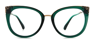 377 Ladonna Cateye green glasses