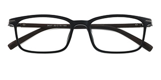 3837 Geord Rectangle black glasses