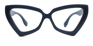 3933 Elda Cateye blue glasses