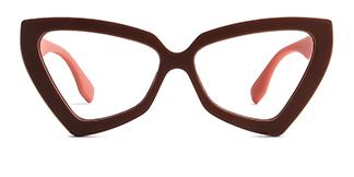 3933 Elda Cateye brown glasses