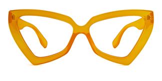 3933 Elda Cateye orange glasses