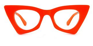42015 Antonina Cateye orange glasses