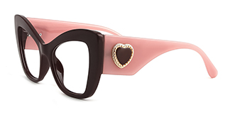 4349 Anana Cateye, pink glasses